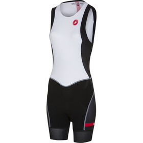 Castelli Short Distance Tuta da gara Donna, white/black